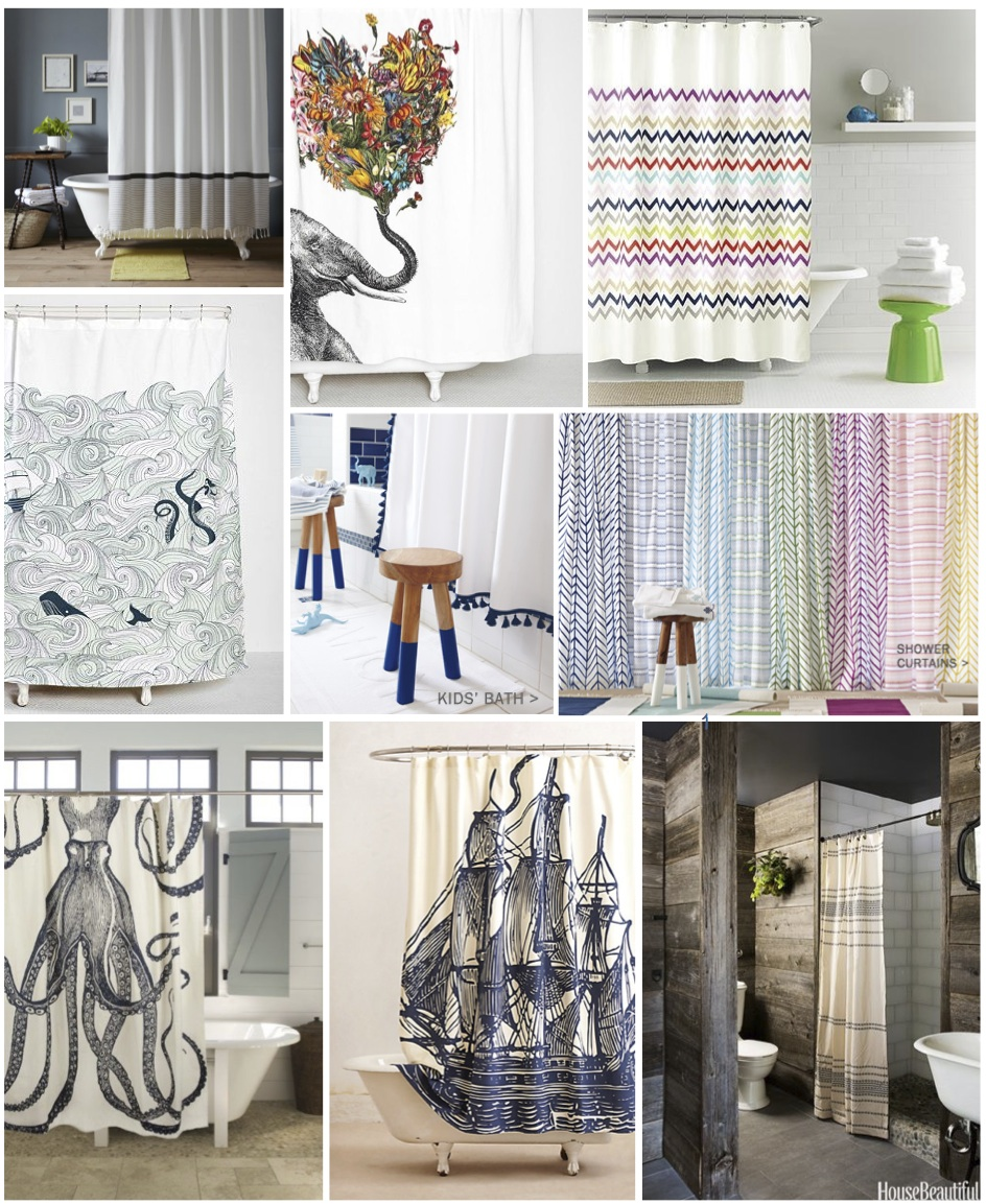 treasure hunt  shower curtains  kmid -    chevron by kate spade   whale by urban outfitters  serena  lily navy tassel or sl's entire collection  octopus by thomaspaul